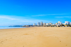 Bred Portimao strand Arkivfoto