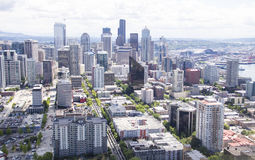Bred Seattle horisont Arkivfoton