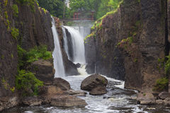 Bred sikt av Paterson Great Falls Royaltyfria Bilder