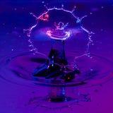 Bred sköld av vatten från en Waterdrop Royaltyfri Fotografi