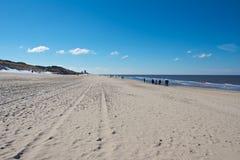 Bred Sylt strand Royaltyfri Fotografi