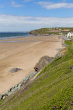 Bred tillflyktsort Pembrokeshire Wales UK Royaltyfri Foto