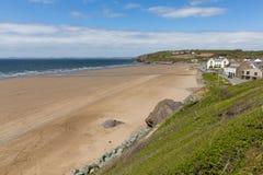 Bred tillflyktsort Pembrokeshire Wales UK Royaltyfria Foton