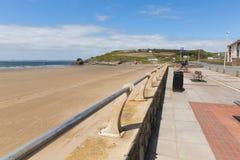 Bred tillflyktsort Pembrokeshire Wales UK Arkivfoton