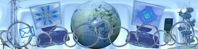bred värld för anslutningsteknologi Arkivbild