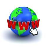 bred värld för begreppsinternetrengöringsduk Arkivbilder