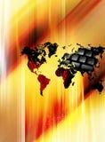 bred värld för begreppsrengöringsduk Arkivbilder