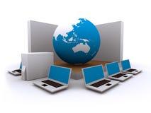 bred värld för datornätrengöringsduk Royaltyfria Bilder