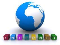 bred värld för internetrengöringsduk Royaltyfri Bild
