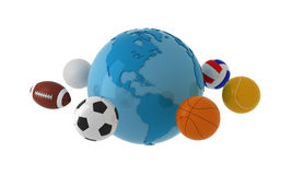 bred värld för sport Vektor Illustrationer