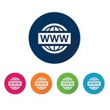 bred värld för symbolsrengöringsduk teknologier för datorsymbolsinternet Fotografering för Bildbyråer