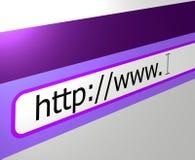 bred värld för webbläsareinternetrengöringsduk Arkivfoton