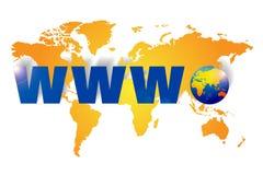 bred värld www för rengöringsduk stock illustrationer