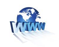 bred värld www för rengöringsduk 3d royaltyfri illustrationer