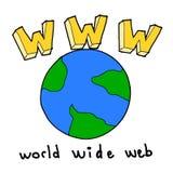 bred värld www för rengöringsduk Arkivfoton