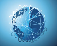bred värld för dataöverföring stock illustrationer