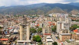 Bred vinkel av Caracas, huvudstad av Venezuela royaltyfri fotografi