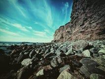 Bred vinkelKalifornien strand Arkivbilder