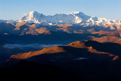 Bred vinkelsikt av Himalayas Arkivbild