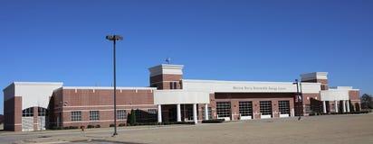 Bred vinkelsikt av Marion Berry Center, västra Memphis, Arkansas Royaltyfria Foton