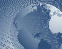 bred värld för dataöverföring Arkivfoton