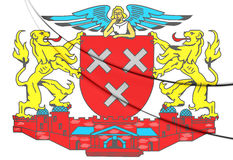 Breda coat of arms North Brabant, Netherlands. Royalty Free Stock Photography