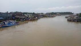 Breda flodmynningar Indonesien Royaltyfri Fotografi