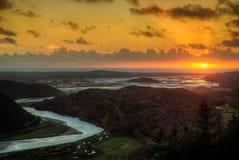 Breda flodmynningen Arkivfoton