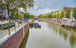 Breda, 5 November 2017: De Nieuwe Mark Nieuwe Mark-rivier bij Th Royalty-vrije Stock Afbeelding