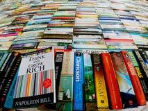 Brede die Engel van een boekbibliotheek wordt geschoten royalty-vrije stock foto's