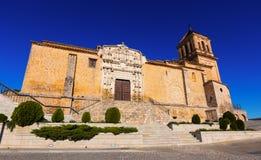 Brede die hoek van Santa Maria la Mayor-kerk wordt geschoten Stock Fotografie