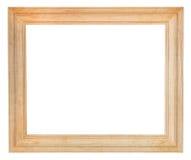Brede eenvoudige houten omlijsting Stock Foto