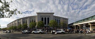 Brede engelenmening van Yankee Stadium in Bronx, New York royalty-vrije stock foto's