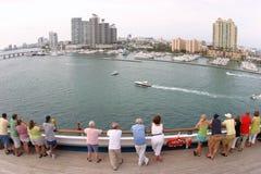 Brede hoek Miami Stock Fotografie