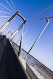 Brede hoek op brug Royalty-vrije Stock Foto