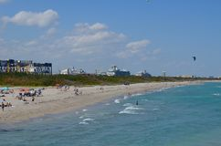 Brede Hoekige Mening van Dania Beach Looking North stock foto