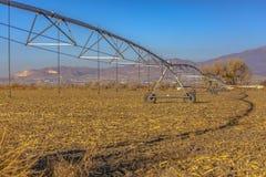 Brede hoekmening van de irrigatiesysteem van de centrumspil stock foto's