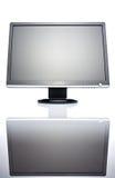 Brede LCD monitor Royalty-vrije Stock Afbeeldingen