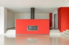 Brede moderne woonkamer Stock Afbeeldingen