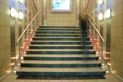 Brede trap met bewegende persoon Royalty-vrije Stock Afbeelding