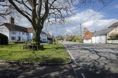 Brede Village Green och gata Arkivbild