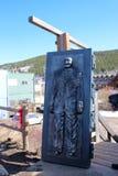 Bredo Morstol雕塑-结冰的死的人天 免版税库存图片