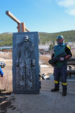 Bredo Morstol Sculpture - Frozen Dead Guy Days Royalty Free Stock Photo