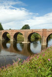 The Bredwardine Bridge river Wye Herefordshire. Royalty Free Stock Photography