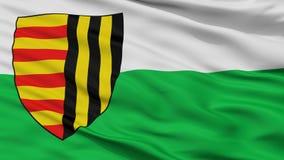 Bree City Flag, Belgio, vista del primo piano Royalty Illustrazione gratis