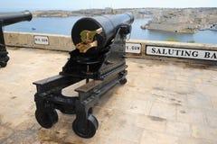 Saluting battery gun Malta. royalty free stock photos