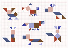 Breed dogs Tangram Royalty Free Stock Image