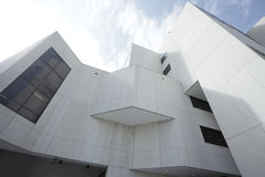 Breed hoekbeeld van een gebouw Stock Afbeelding