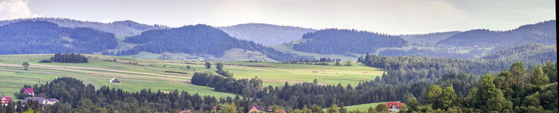 Breed landelijk panorama royalty-vrije stock afbeelding