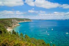 Breed landschap in Bretagne Royalty-vrije Stock Afbeelding
